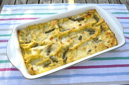 lasagna with burrata