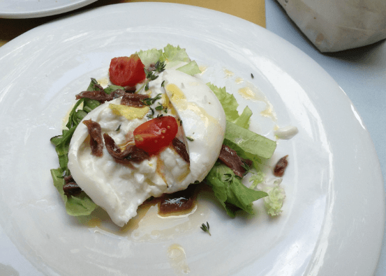 caprese with burrata