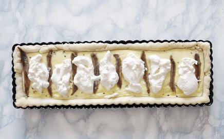 Savory Pie with Burrata