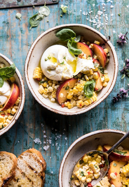 Spicy-Corn-and-Peaches-with-Burrata