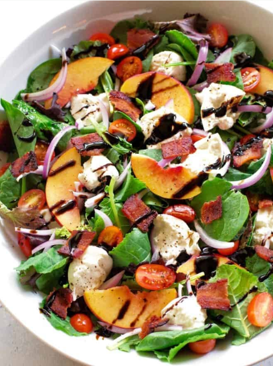Peach-Burrata-Salad