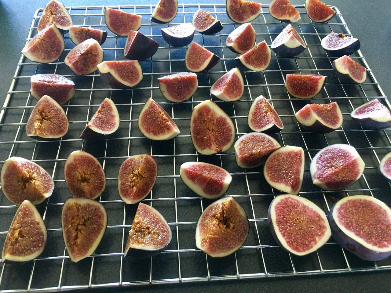 Figs waiting to go into the dehydrator