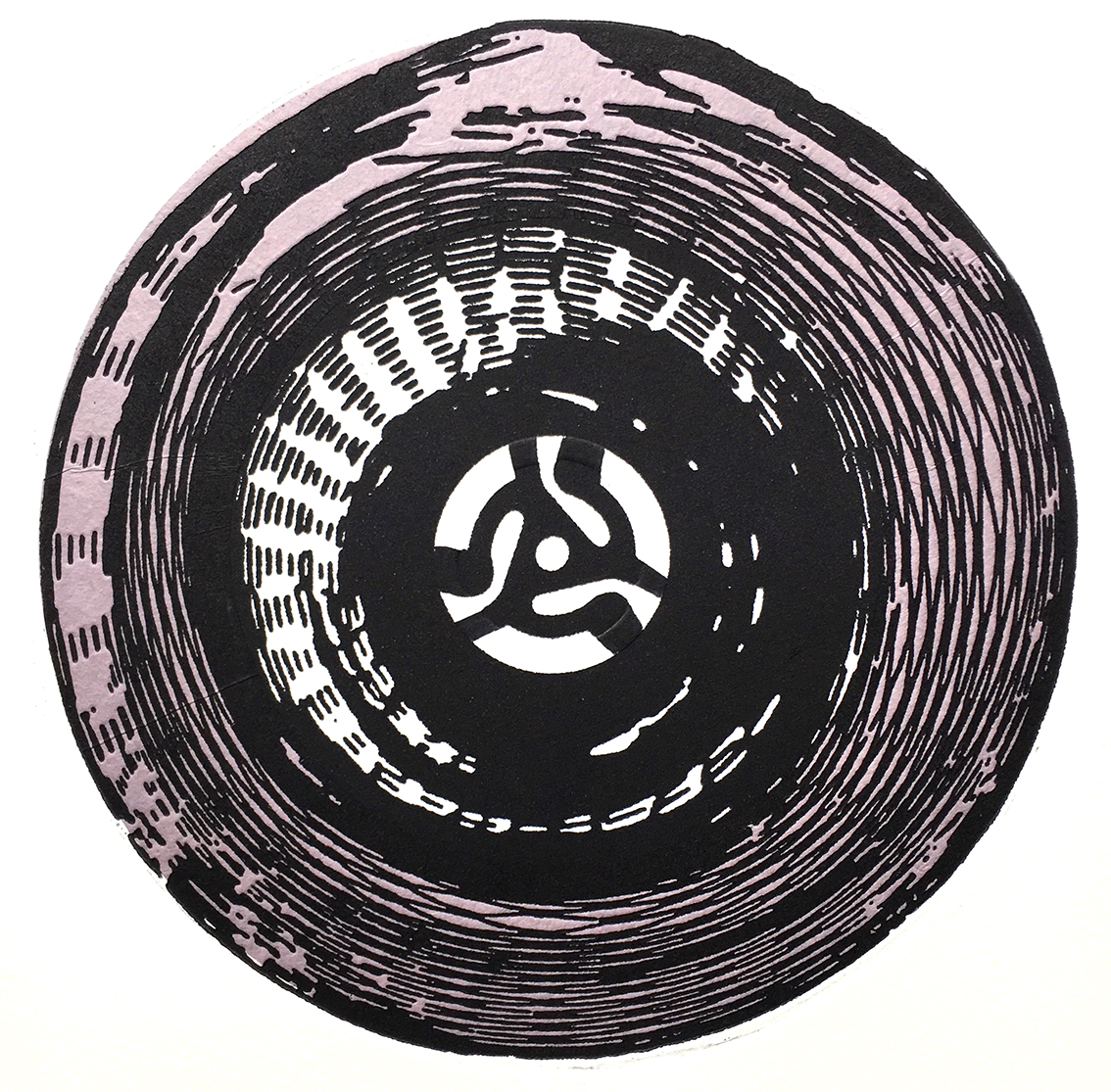 Kirigami vinyl, Photopolymer etching and chine collé