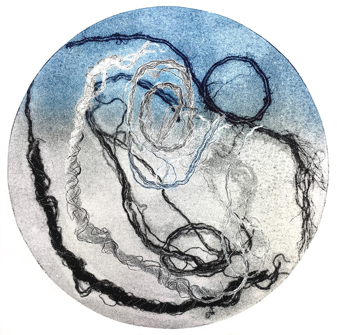 Vinyl Lines IV, monotype