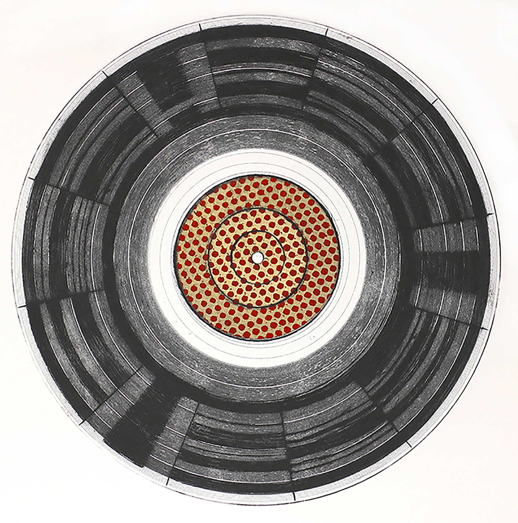 Sound Grooves, Drypoint and Chine-collé