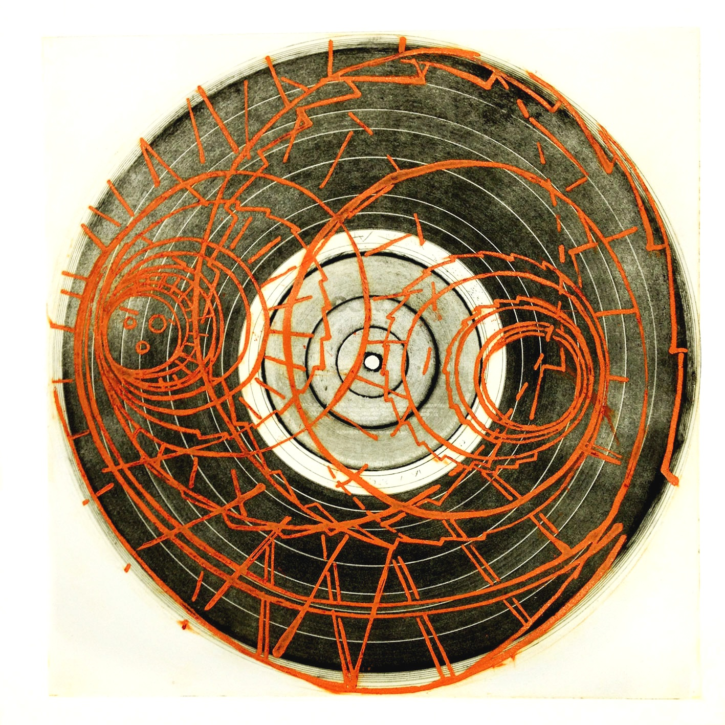 Looking at the Upside, Photo etching