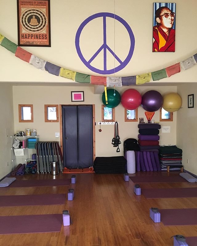 Waiting for my students at the beautiful Idyllwild Yoga studio. I sub Hatha 1, Chair Yoga and Restorative here, and always have the most fun with the women in the chair class. Typically chair yoga is for seniors or for people with restricted mobility. Coming up with ways to make them move and have fun in their bodies is one of my favorite parts of teaching. Plus they always laugh at my dumb jokes lol.