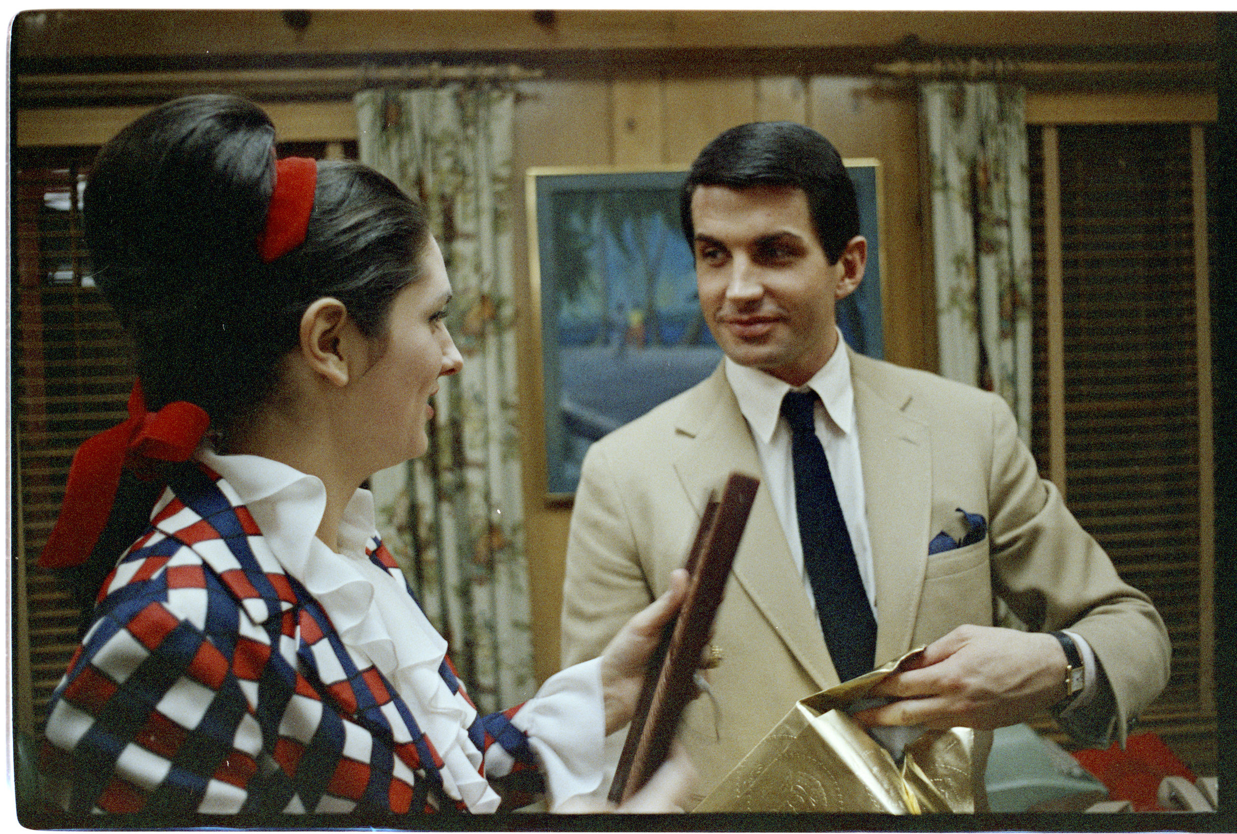 Psycho actor Anthony Perkins at the LBJ Ranch,