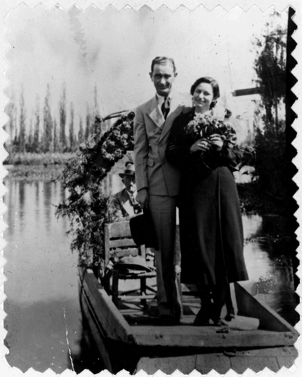 Lyndon and Lady Bird Johnson on their honeymoon. LBJ Library photo by Unknown, Nov. 1934