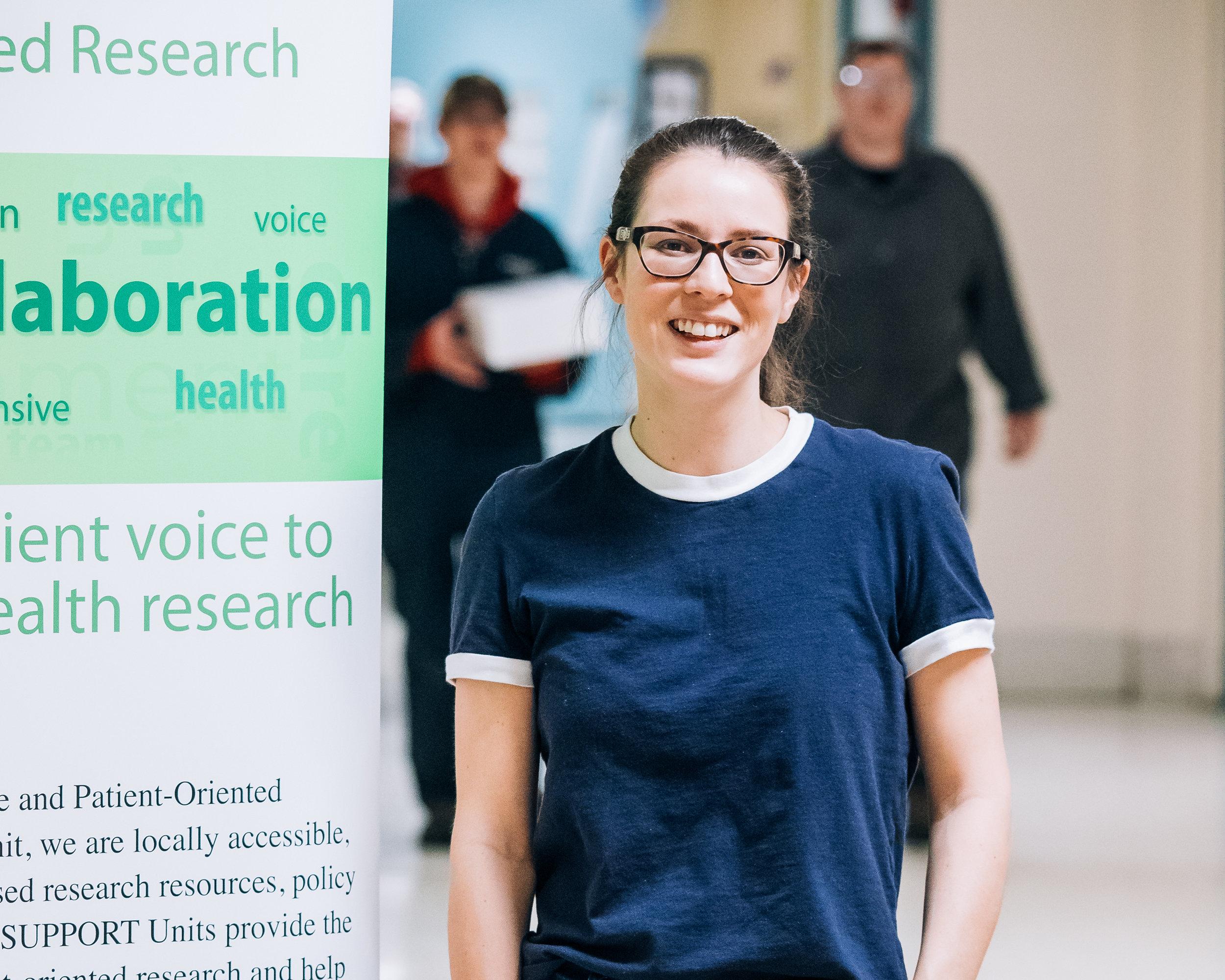 SCPOR trainee Carrie Pratt, MSc student in the College of Nursing at the University of Saskatchewan (Photo by: Chris Plishka)