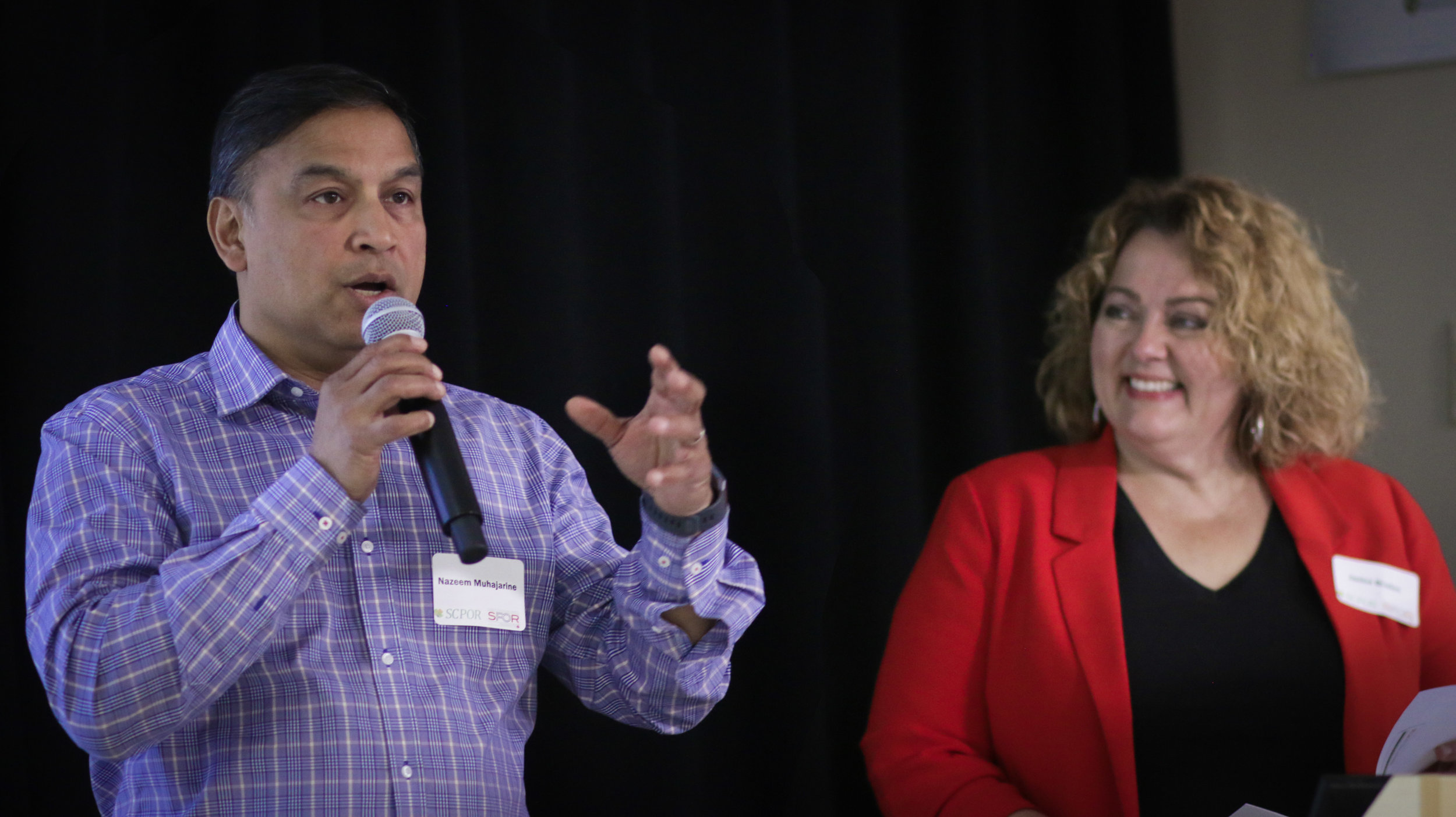 Dr. Nazeem Muhajarine and Janice Braden present on the SPOR Primary & Integrated Health Care Initiative