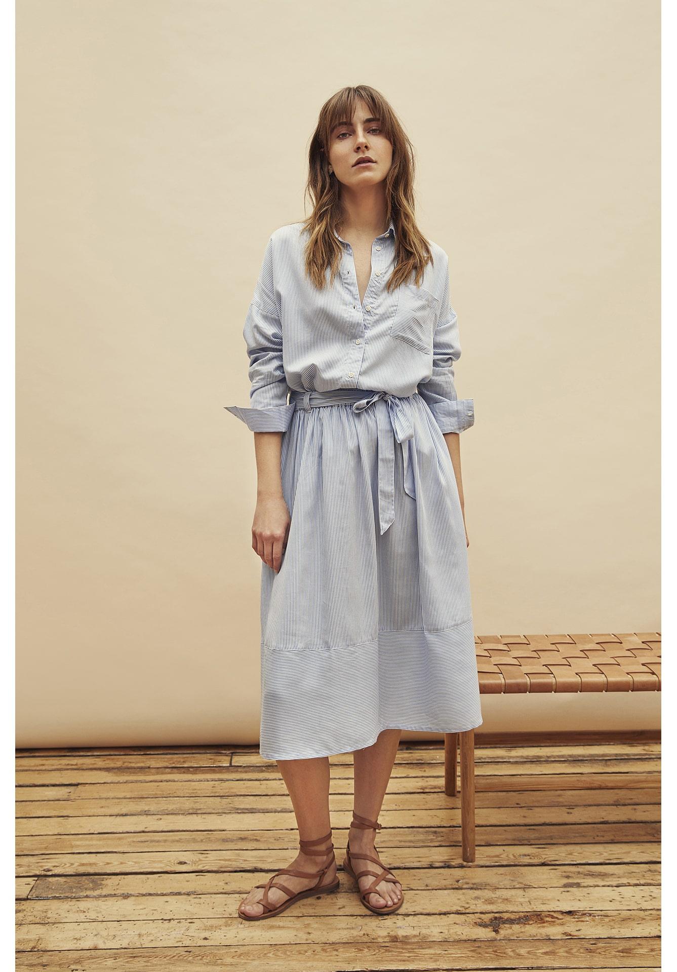 People Tree Gemma stripe skirt