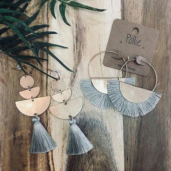 Etsy tassel earrings