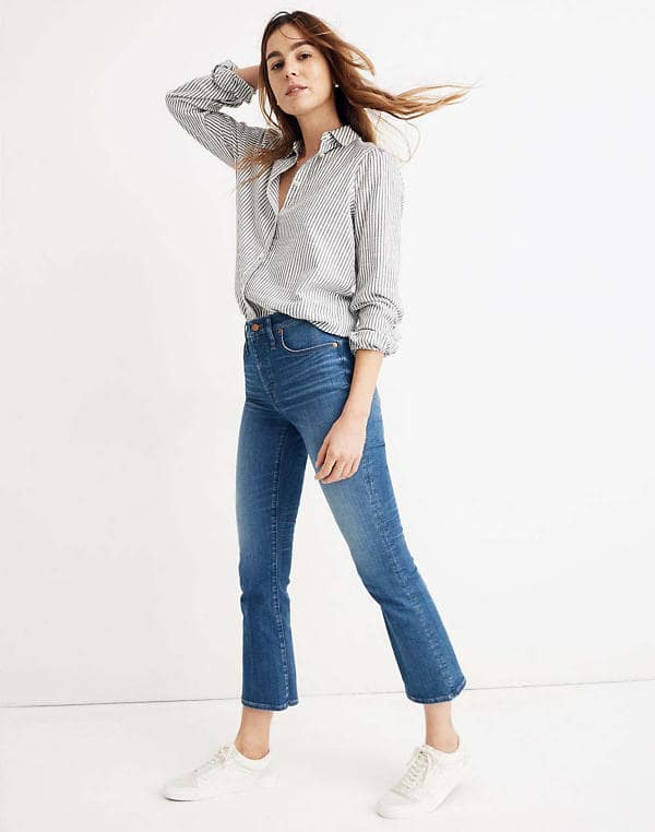 Madewell Cali demi-boot jean  in Tierney wash