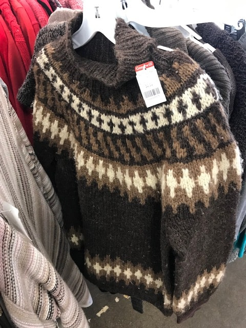 Goodwill hand knit sweater