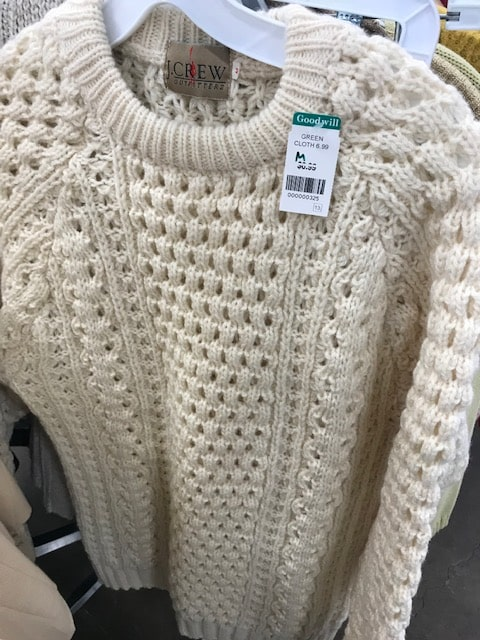 Goodwill vintage J Crew sweater