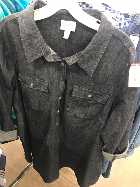 Goodwill denim maternity shirt