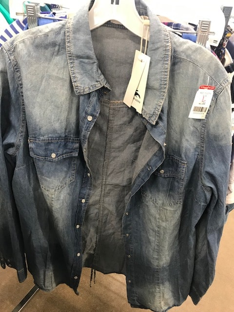 Goodwill as-new denim shirt