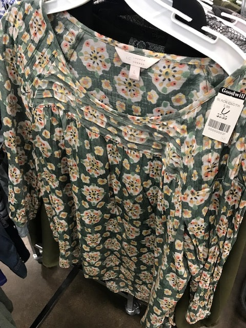 Goodwill LC by Lauren Conrad floral shirt