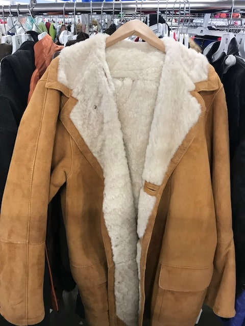 Goodwill shearling coat
