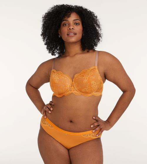 ThirdLove 24/7 Lace Balconette bra in sunflower