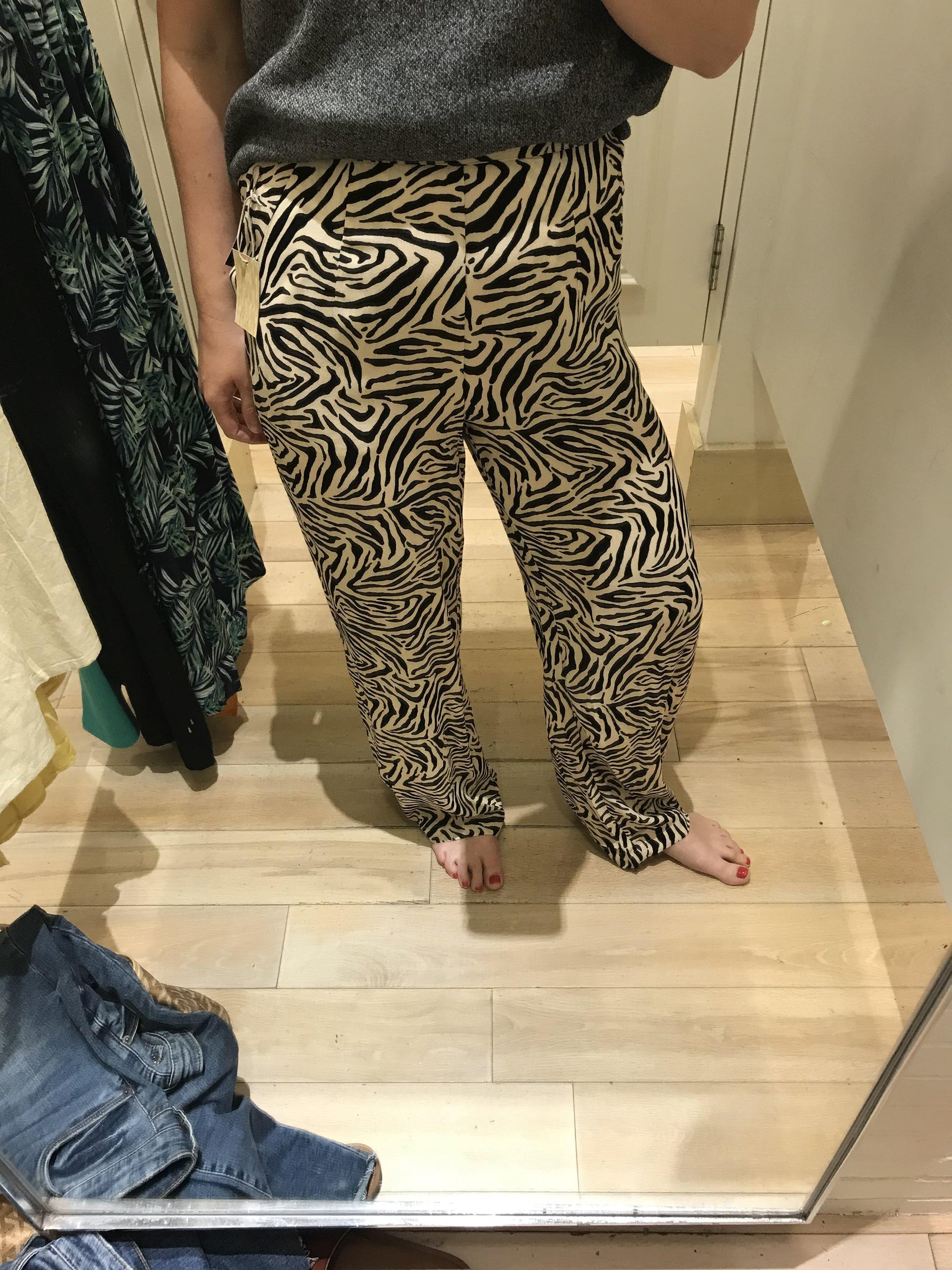 Forever 21 animal print wide leg pants