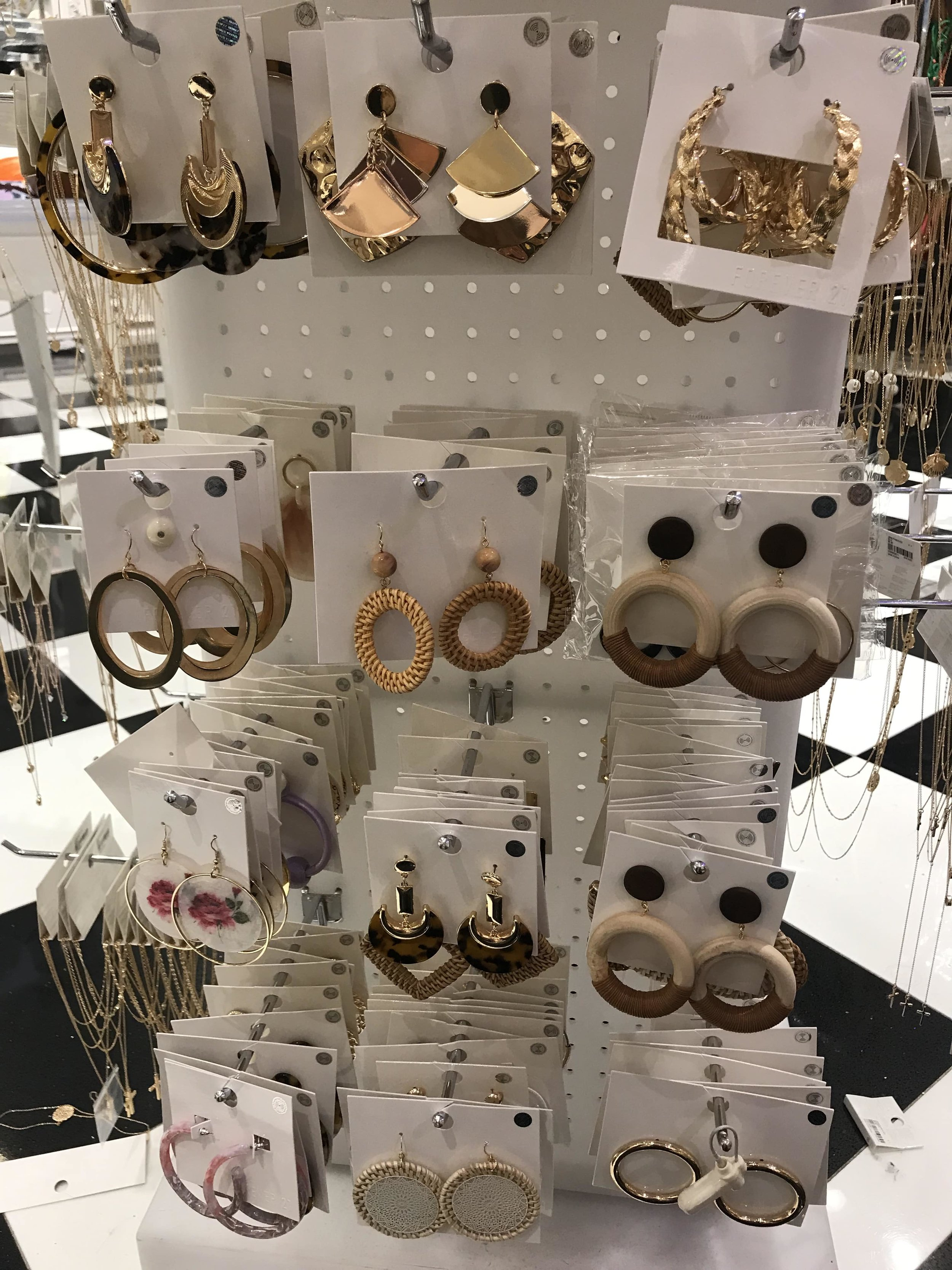 Forever 21 wooden, woven and other earrings