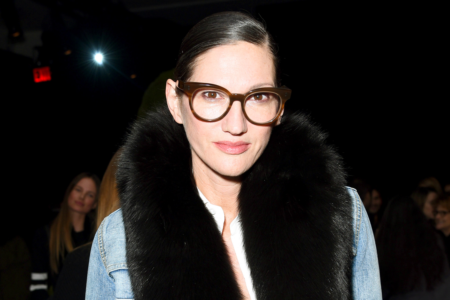 Jenna Lyons' statement glasses. Photo: Jared Siskin