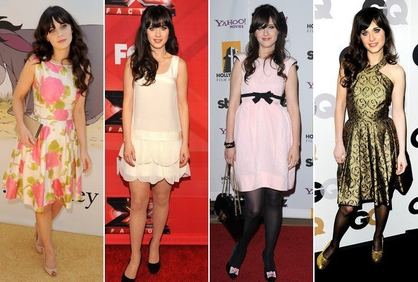 Zooey Deschanel doing her thing. Photos: Getty, Bauer Griffin