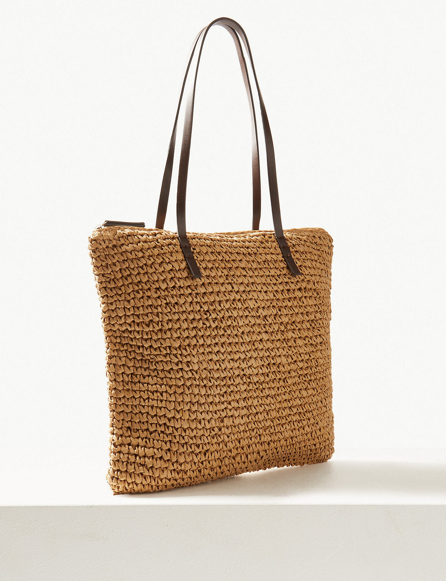 Marks and Spencer  straw zipped shopper  $26/£15