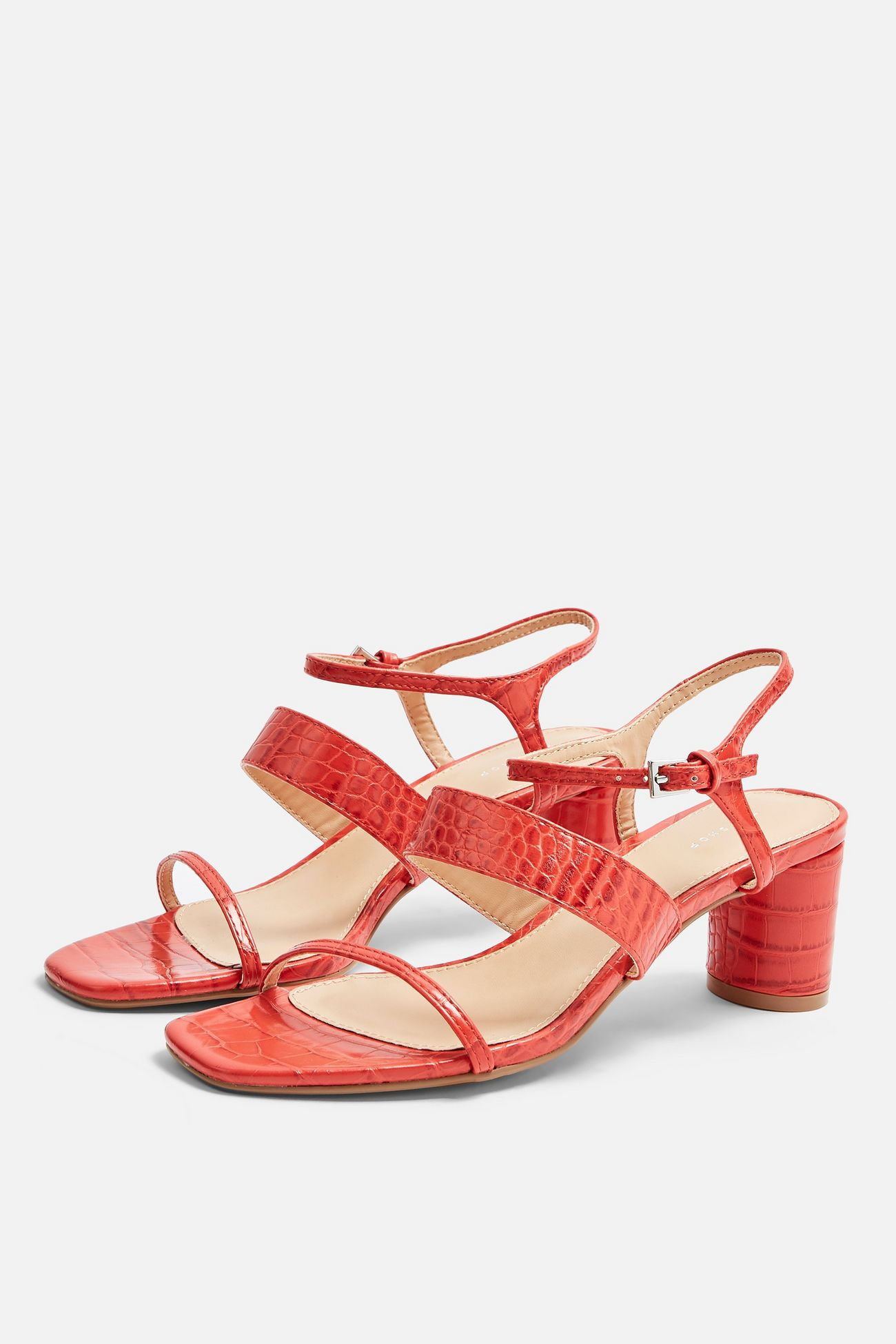 TopShop Dita  red strap sandals , $52/£32