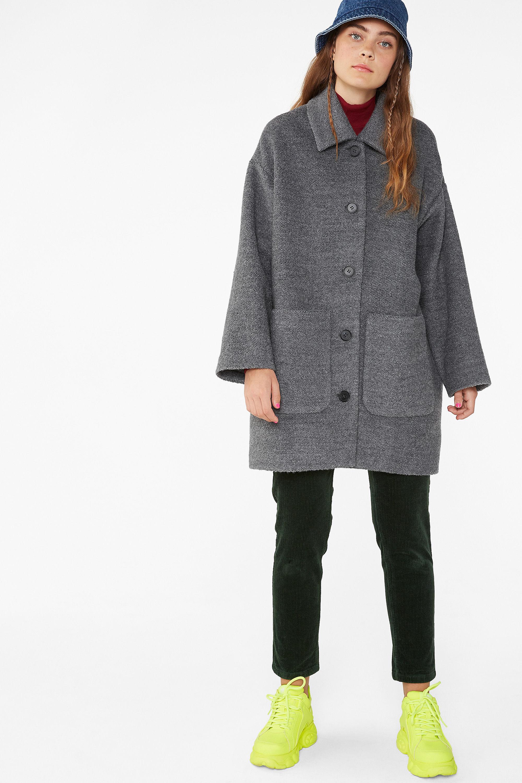 Monki oversized boucle coat £65