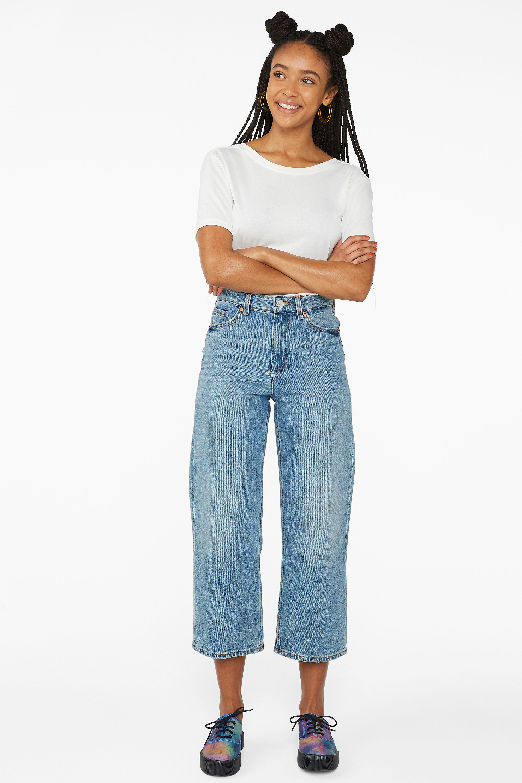 Monki Mozik mid-blue jeans, £40