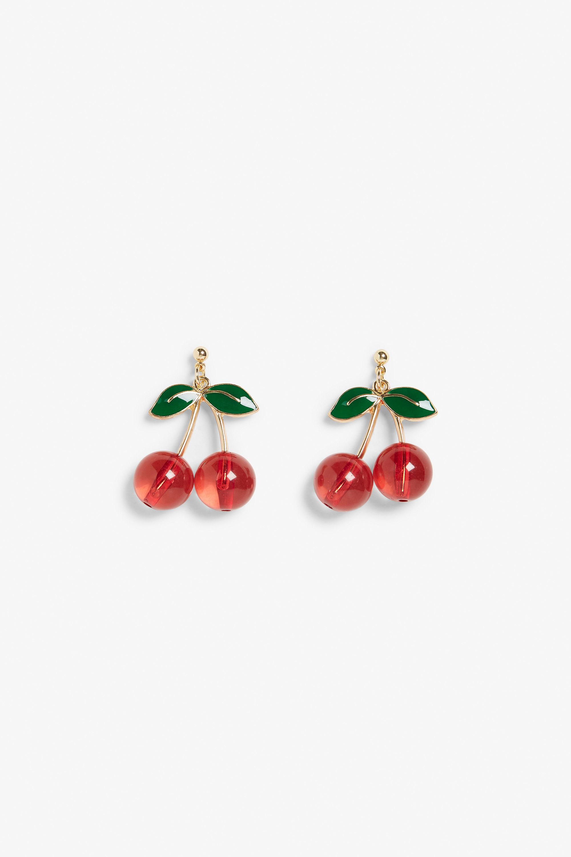Monki cherry earrings, £5