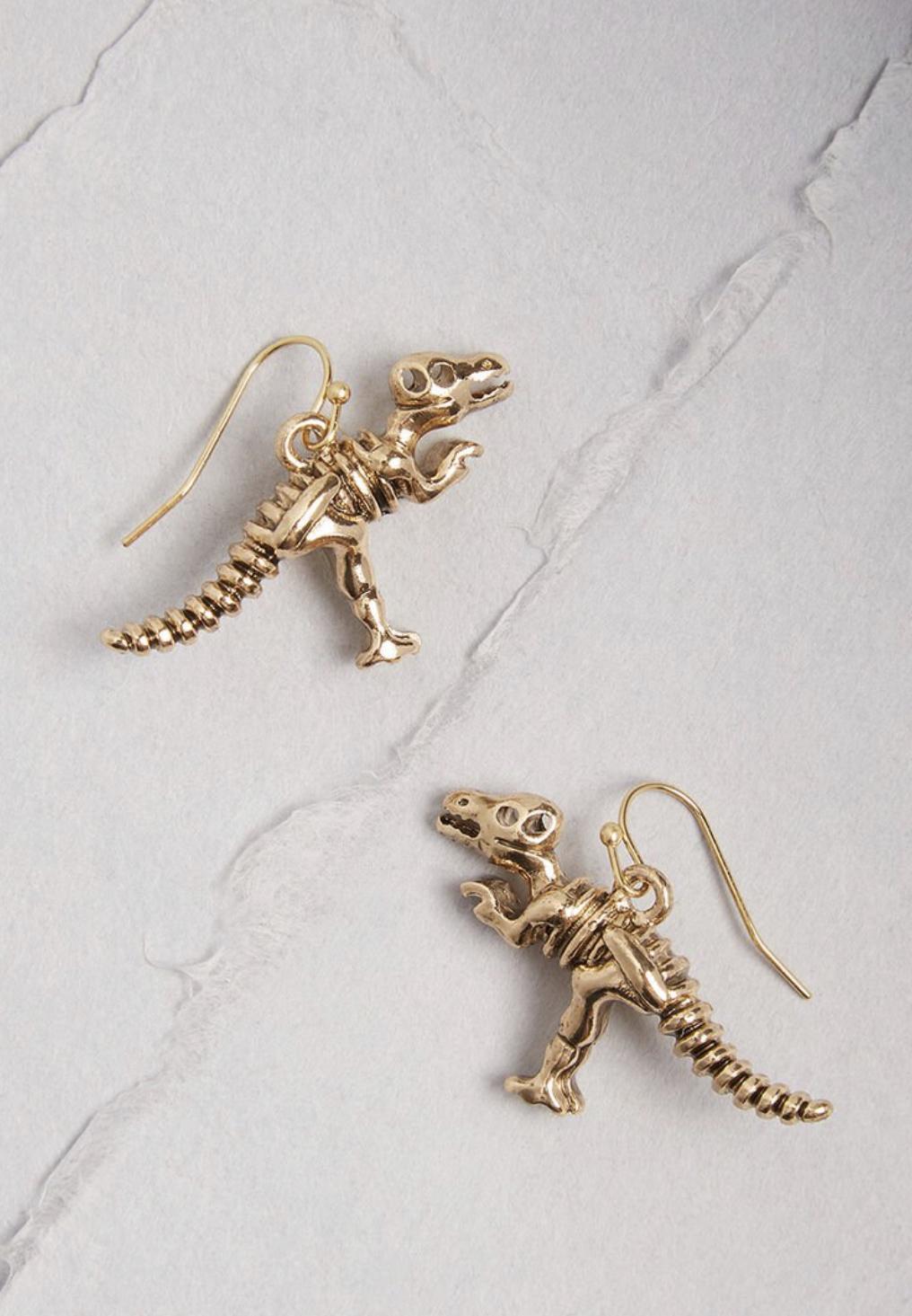 ModCloth Rex Appeal drop earrings, $15