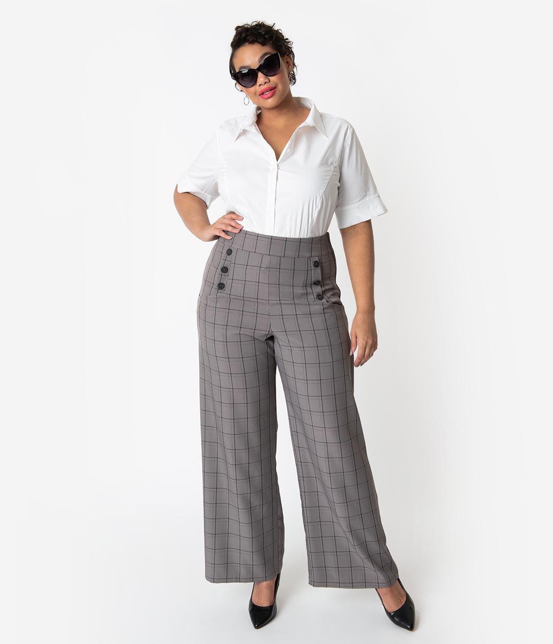 Unique Vintage high waist Ginger pants, $68