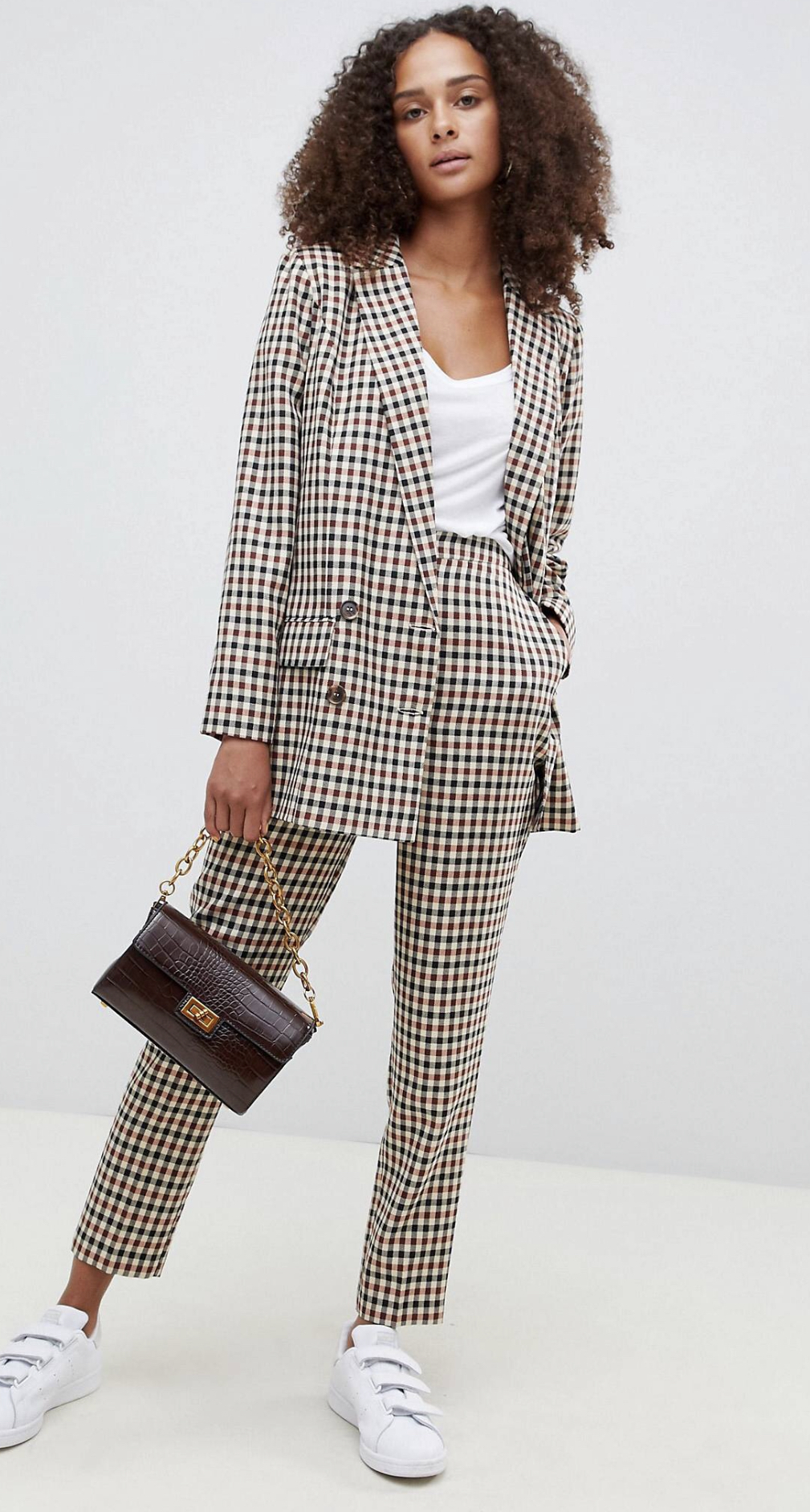 ASOS DESIGN tailored check slim pants, $42 (reduced from $60) and blazer, $43.50 (reduced from $87)