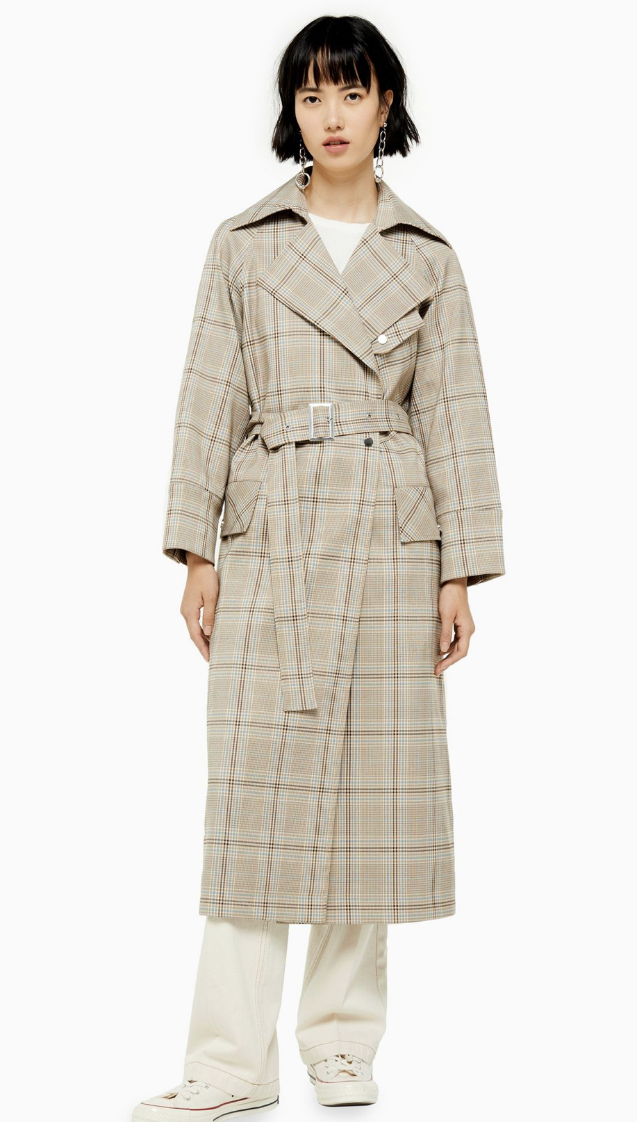 TopShop UK check trench coat, £85