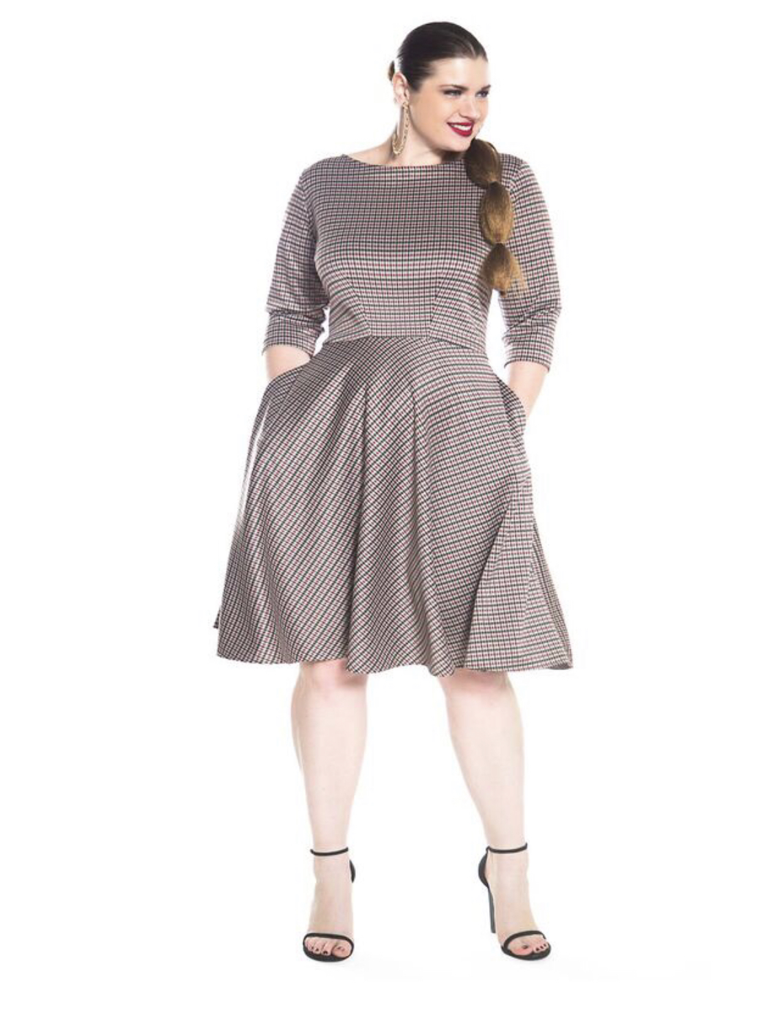 Jibri classic plaid swing dress, $230. Jibi is a great plus size brand with some gorgeous pieces. Everything is handmade in Georgia, USA, so is a little pricier than mass-produced high street fare and takes a little longer to ship, but it's worth it. Jibri will ship internationally, which takes about 1-3 weeks.