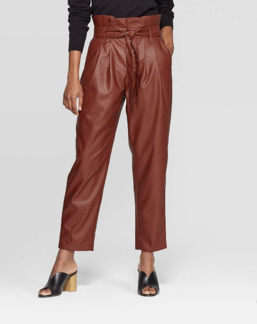 Who What Wear for Target paperbag pants, $34.99