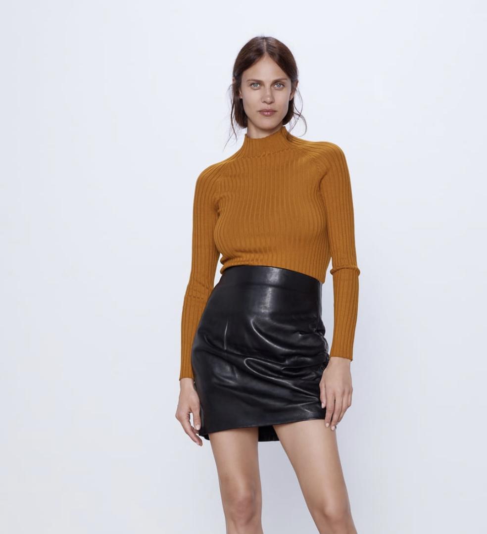 Zara mock neck sweater, $35.90