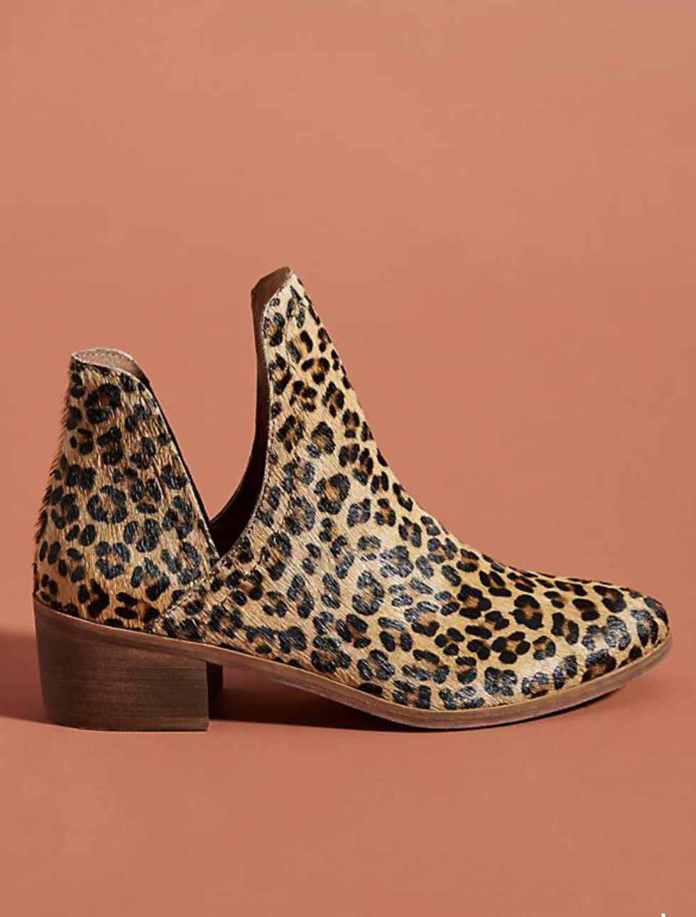 Anthropologie Matisse animal print ankle boots, $85.00