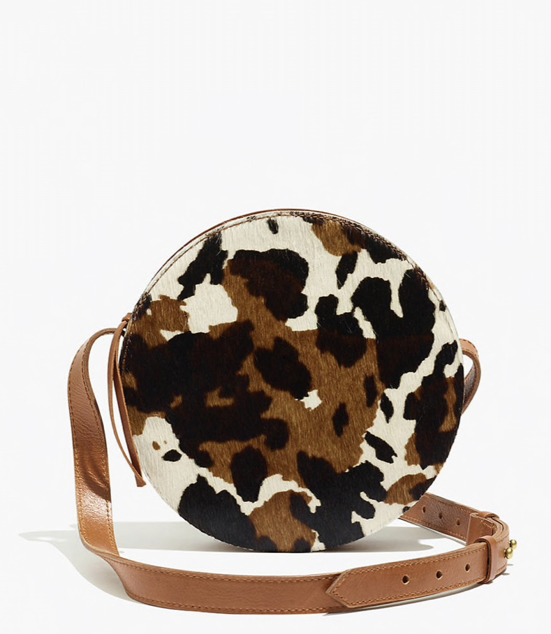 Madewell The Simple Circle crossbody bag in calf hair, $108