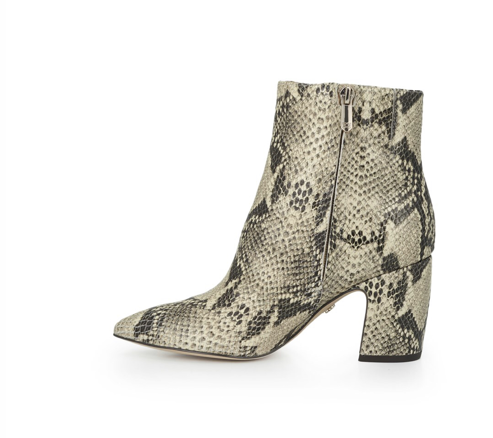 Sam Edelman Hilty ankle boots in snake, $180