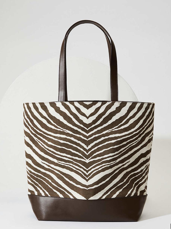 Loft zebra print tote bag, $24.99 (reduced from $59.50)