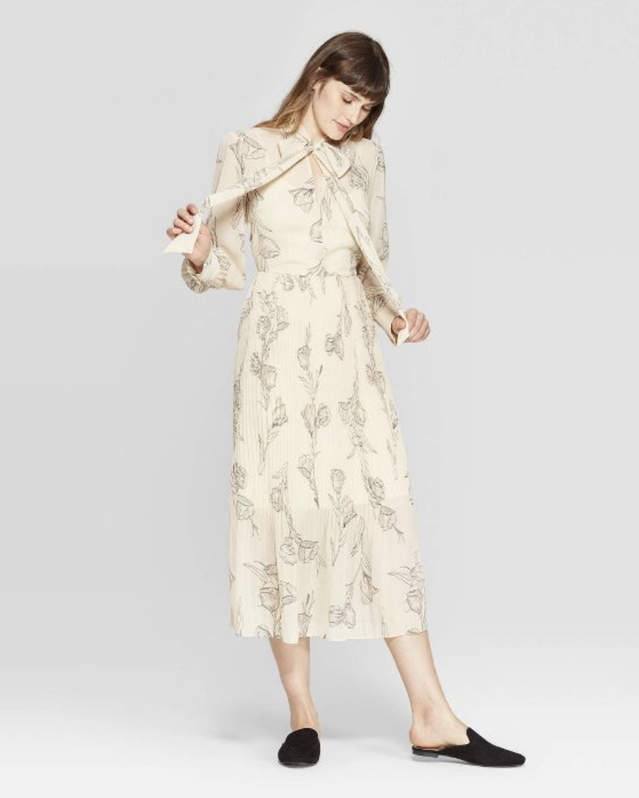 A New Day for Target floral long sleeve dress, $34.99