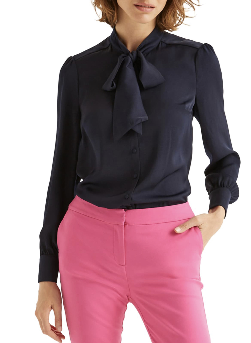 Boden at Nordstrom Thelma tie-neck blouse, $98