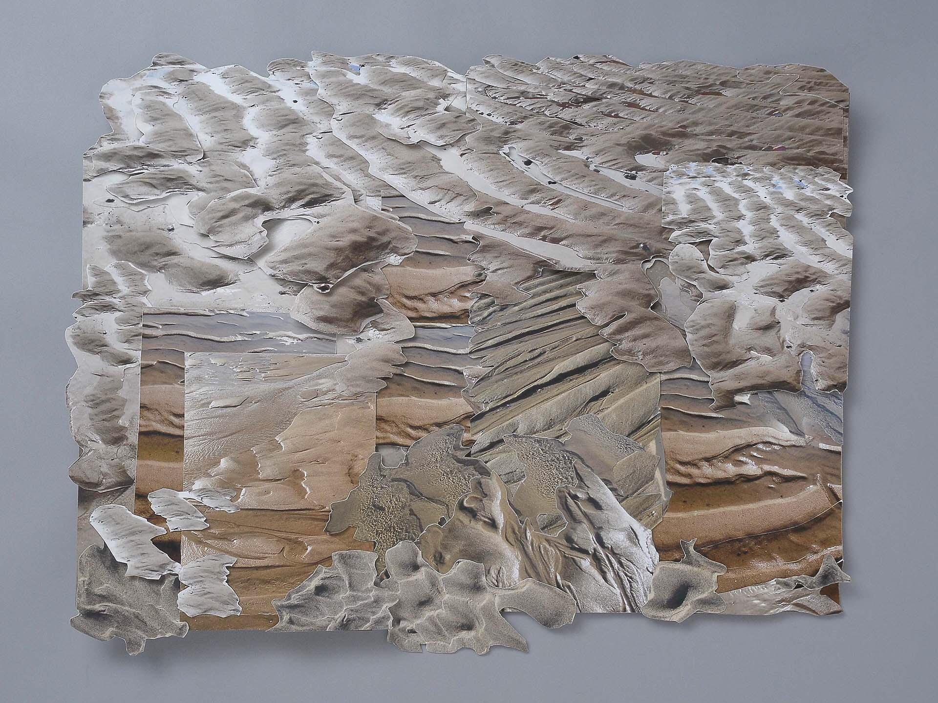 "Phyllis Ewen, ""RESTLESS SAND #4"", sculptural layered pigment print 2015"