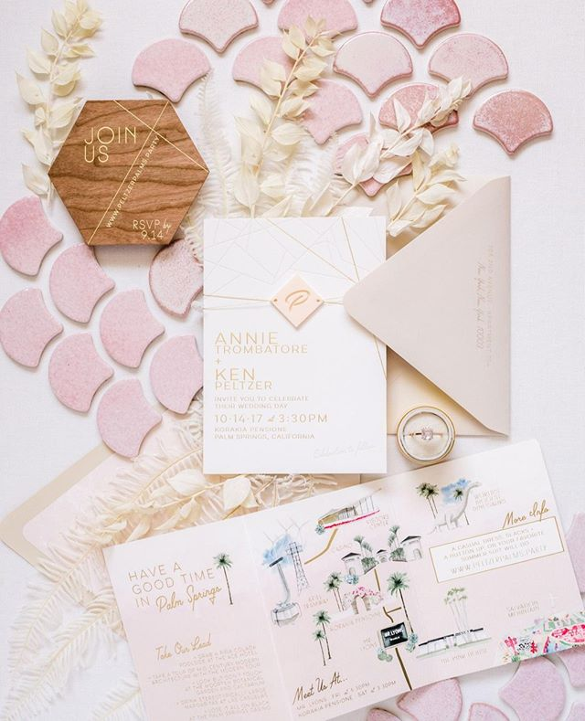 Thinking outside the box with pink French scallop tiles as a backdrop for these delicious @primandpixie invitations! #weddingstylingworkshop #photographyworkshop #flatlayworkshop #weddingflatlay #invitationflatlay #weddinginvitations #weddingstyling #invitationstyling