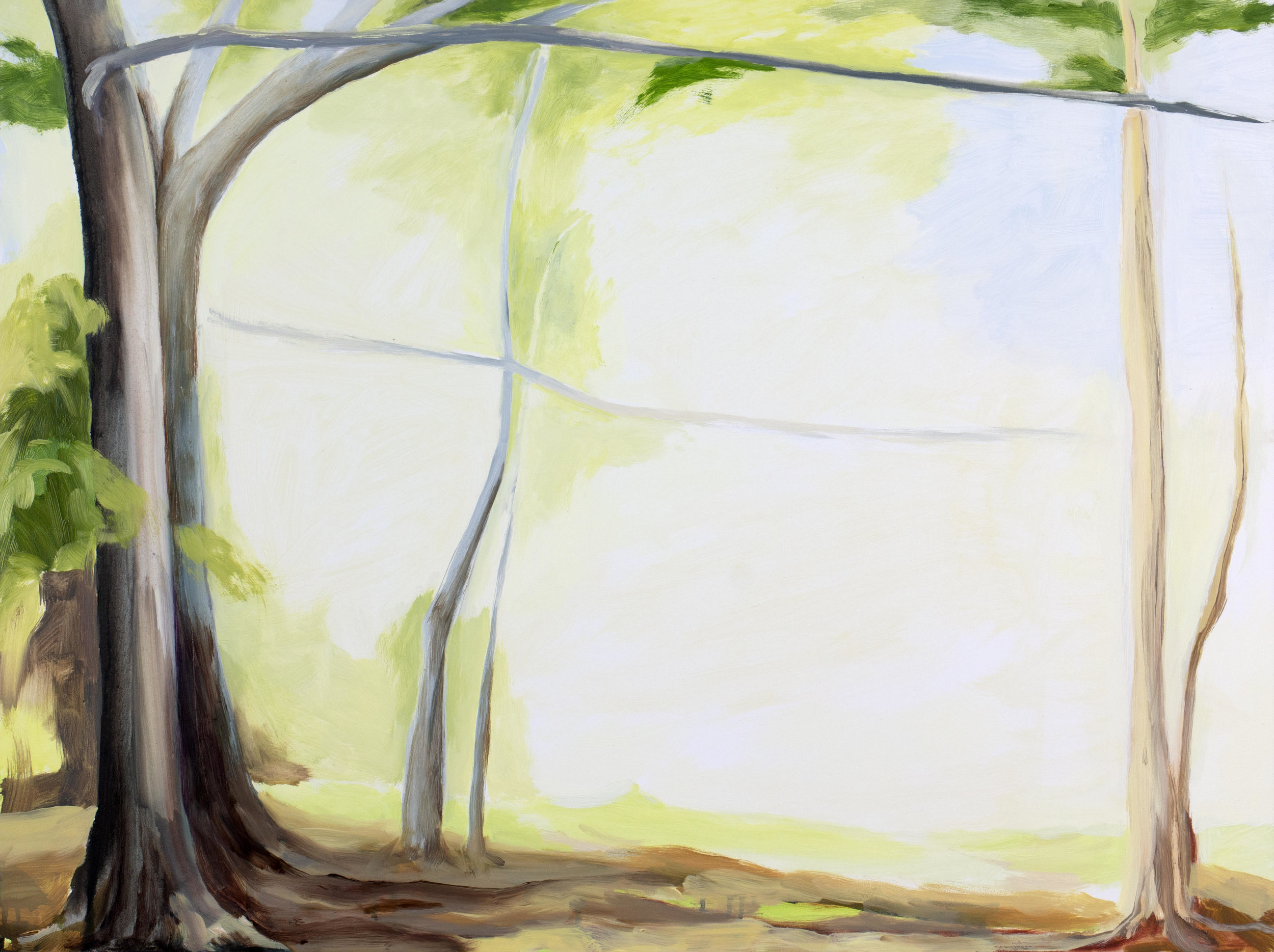"Expanse of Light , 2018, O/Panel, 18"" x 24"""